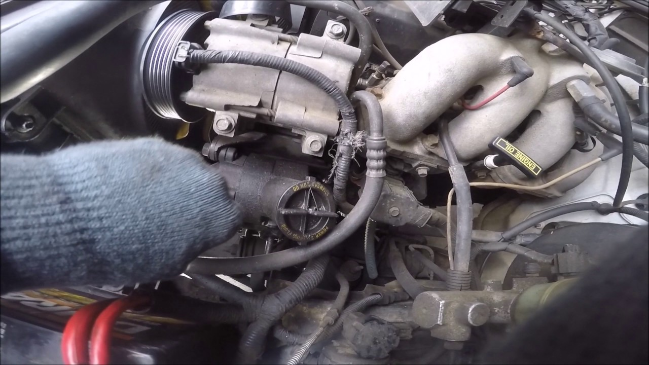 Ford Ranger 2.5 Power Steering Pump - YouTube