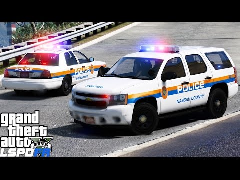 GTA 5 LSPDFR Police Mod 432   Nassau County Police Department    New York Patrol