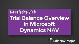 Trial Balance Overview