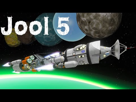 KSP: Landing on EVERY Jool Moon in ONE launch!