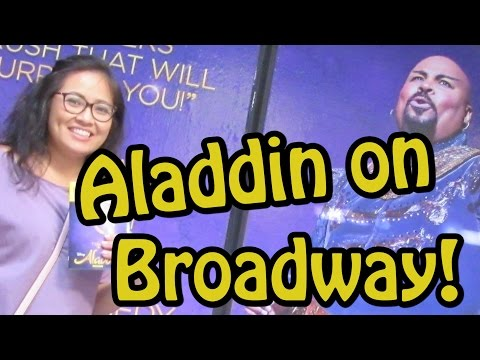 We Saw ALADDIN on Broadway and Walked Through Midtown NYC!