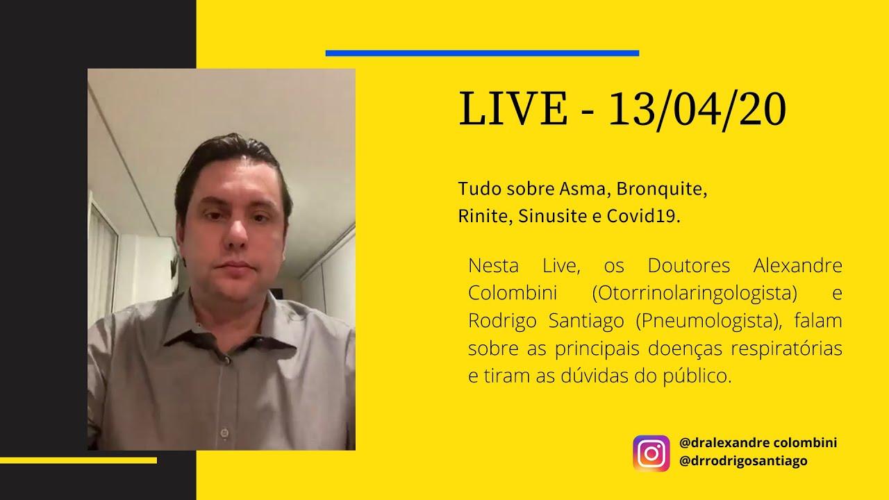 Live 13/04/2020 - Tudo sobre rinite, sinusite, asma, bronquite e covid19