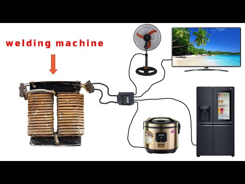 how to turn a welding machine into a 250v generator