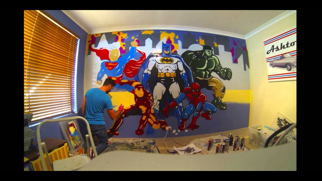 Superheroes Bedroom Handbrake Super Hero Time Lapse Youtube