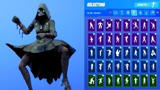SCOURGE SKIN SHOWCASE WITH ALL FORTNITE DANCES & EMOTES