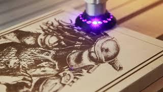 OPT 6W Laser Demo Predator Wood Movie Poster