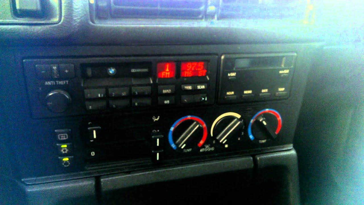 1992 bmw 525i interior - youtube
