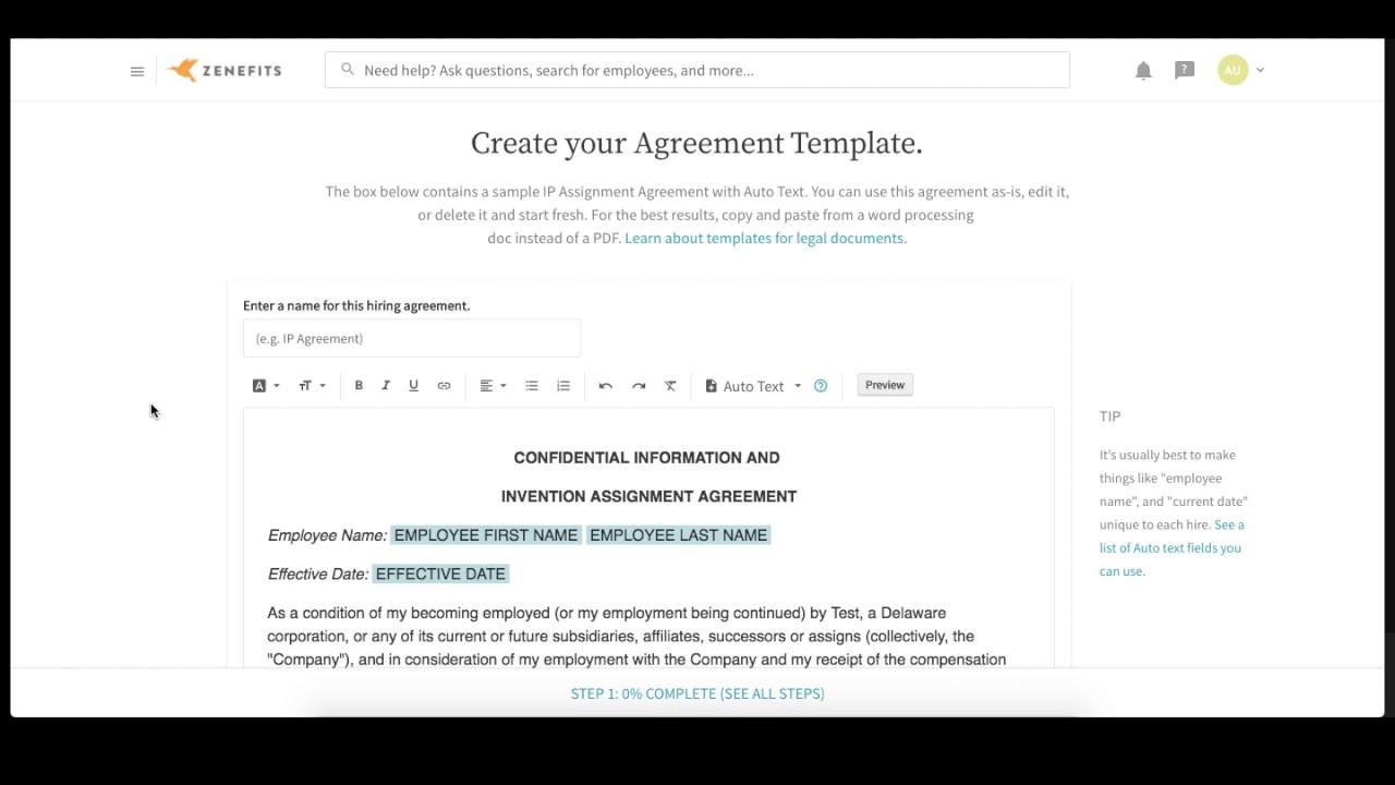How do I create custom templates in Zenefits?
