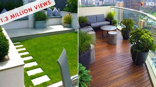 Balcony Garden Decorating Ideas | Rooftop Terrace Decor Ideas | Backyard Seating | Balcony Interior