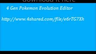 4 Gen Pokemon Evolution Editor,5 Gen Pokemon Evolution Editor,and pokegen download