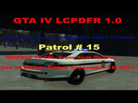 GTA IV LCPDFR 1.0 Singleplayer Pennsylvania state police patrol # 15