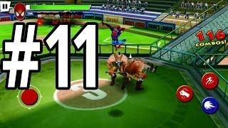 Ultimate Spider-Man: Total Mayhem | iPhone | Gameplay Walkthrough Part 11: Fight 30 Men In Stadium