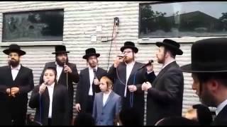 Beautiful Chupah with Yisroel Werdyger Shira choir berko on keys child solo Avrum chaim Green