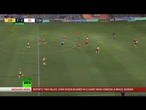 RT America: VIDEO: Ridiculous Bicycle Kick in A-League Match