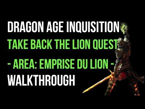 Dragon Age Inquisition Walkthrough Take Back The Lion Quest (Emprise Du Lion) Gameplay