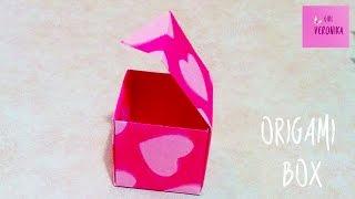 Оригами коробочка с крышкой на День св. Валентина// Origami box Handmade(Совсем скоро 14 февраля – День всех влюбленных. В данном мастер-классе сделаем простую и красивую оригами..., 2016-02-10T15:11:45.000Z)