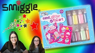 SMIGGLE SPARKLING ART, SAND GLITTER & FOIL MAKE & DESIGN| Little Kelly & Friends ToysReview for Kids