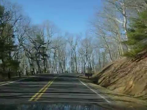 Driving Into Pipestem State Park
