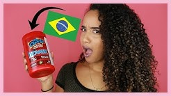 AMERICAN TRIES BRAZILIAN CURLY HAIR PRODUCT!!! 😱