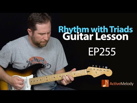 Learn a Driving Blues Rhythm Using Triads  Blues Guitar Lesson  EP255