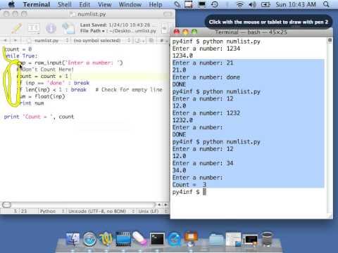 Python for Informatics - Exercise 5 1