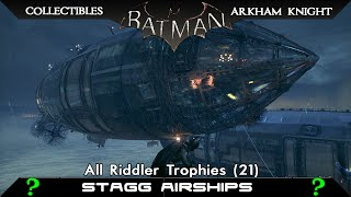 Batman: Arkham Knight - Stagg Airships - All Riddler Trophies