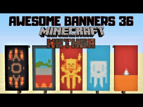 ✔ 5 AWESOME MINECRAFT BANNER DESIGNS WITH TUTORIAL! #36