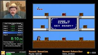Chip 'N Dale: Rescue Rangers NES speedrun in 11:01 by Arcus