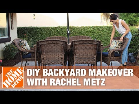 Backyard Makeover with  DIY Outdoor Fireplace Installation by Rachel Metz of Living to DIY