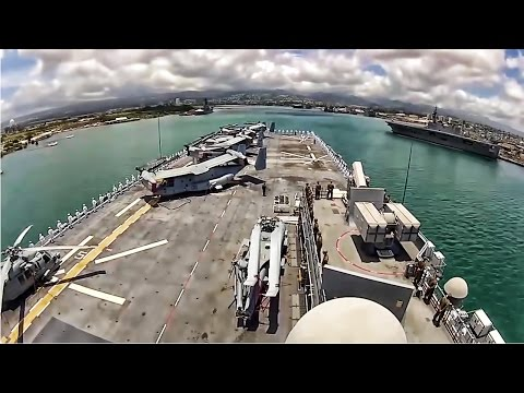 USS America Enters Pearl Harbor For RIMPAC 2016 • Time Lapse