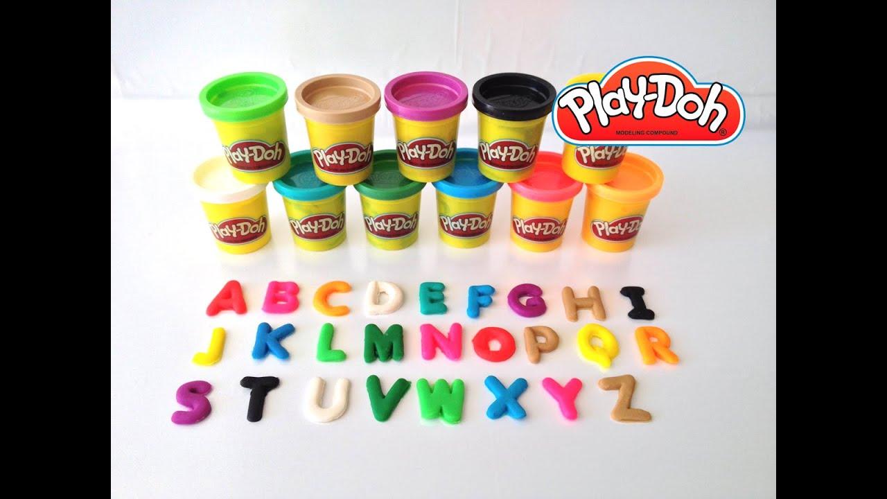 play doh learning abc aprendendo o alfabeto com playdough. Black Bedroom Furniture Sets. Home Design Ideas