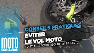 Vol moto : 5 conseils pour sécuriser sa moto !