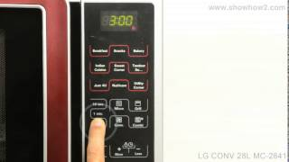 LG MC-2841SPS Convection Microwave Oven - How To Set The Clock