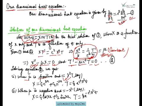 Introduction to One Dimensional Heat Equation Solution
