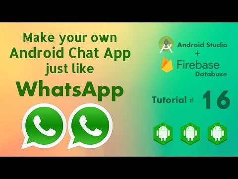 Group Chat App Android Studio Tutorial 16 - Android Group Chat Application Using Firebase