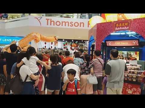 Singapore KST Dragon Dance Performances at Thomson Plaza on Day 10 of CNY 25/2/18