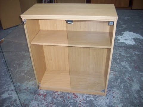 Small Cabinet With Glass Doors Youtube