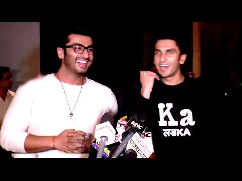 Ranveer Singh & Arjun Kapoor's Funny Comedy At Ki & Ka Promotions
