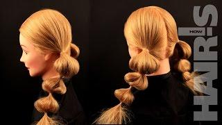 Делаем простую прическу «Фонарики» - видеоурок (мастер-класс) Hair's How.