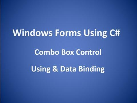 Combo Box Control Using & DataBinding