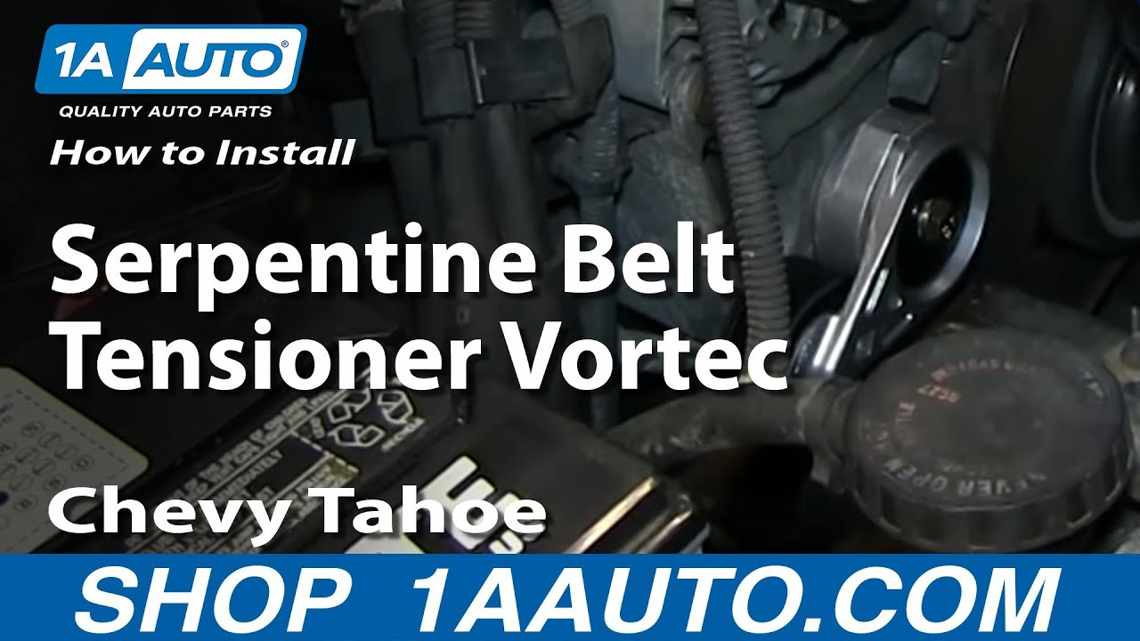 hight resolution of how to install replace serpentine belt tensioner vortec 5 7l chevy tahoe gmc yukon suburban youtube