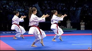 Karate Female Team Kata Bronze Medal - Serbia vs Italy - WKF World Championships Belgrade 2010 (1/2)(History of Karate. Karate Female Team Kata Bronze Medal. Serbia vs Italy. Performance of Team Serbia in the WKF World Championships Belgrade 2010., 2012-08-30T14:31:55.000Z)