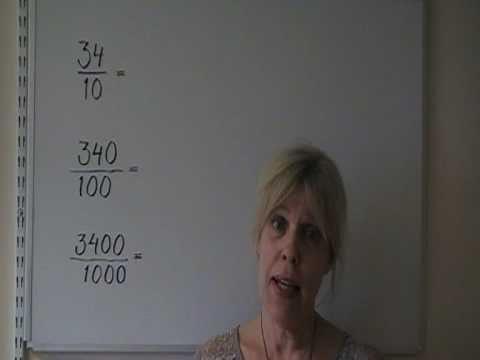 Matematik i Solstudion Division med 10, 100 och 1000