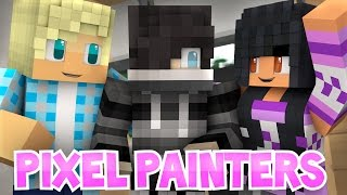 Zane, Garroth, and Aphmau in Pixel Painters! | Roleplay Minigames!