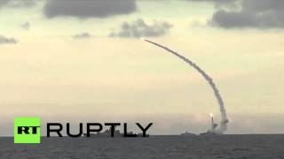 Russia: Russian battleships bombard militant positions in Syria