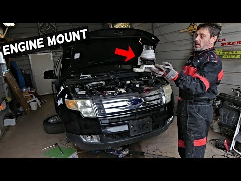 FORD EDGE ENGINE MOUNT REPLACEMENT REMOVAL. LINCOLN MKX