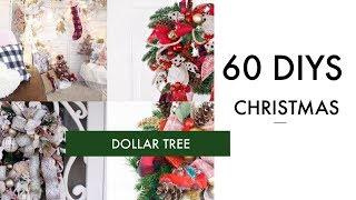 🎄60 DIY DOLLAR TREE CHRISTMAS DECOR CRAFTS 🎄WREATH, GARLAND, TREE, ORNAMENTS
