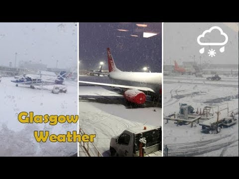 Snow causes major disruption at Glasgow International Airport