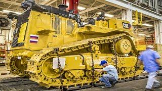 Incredible Heavy Duty CAT KOMATSU Bulldozer Excavator Manufacturing \u0026 Assembling Process Technology