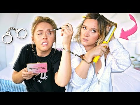 24 Hours HANDCUFFED To My Sister!! *idk how we survived*